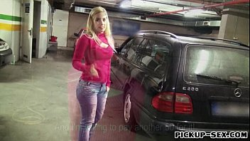 Sultry amateur blonde Eurobabe Ellen pounded for money's Thumb