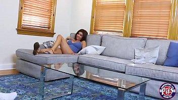 Lovely and busty brunette teen Aaliyah gets jizzed