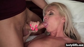 Gorgeous woman Franny takes young big cock down her tight pussy