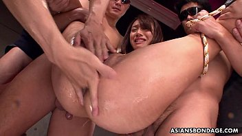 Lame bondage - Small titty asian slut bdsm treated by the fellas
