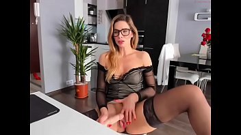Hot Milf Fucks Dildo On Webcam