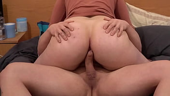 Amateur Anal - Filling Her Thick Pawg Ass With a Hot Load of Cum Anal Creampie!