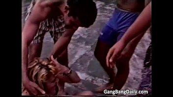 Great video of amateur gang bang