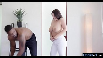 Huge juggs woman Angel White interracial