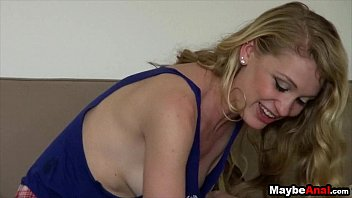 Slutty Blonde fucked in the ass at home Ali Rae 1