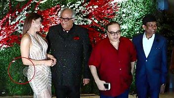 Boney Kapoor Grabbing Urvashi Rautela Ass And Boobs Press Live On Camera