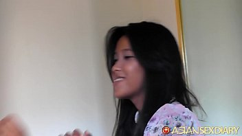 ASIANSEXDIARY Hairy Pussy Teen Welcomes Dripping Rough Sex Creampie thumbnail
