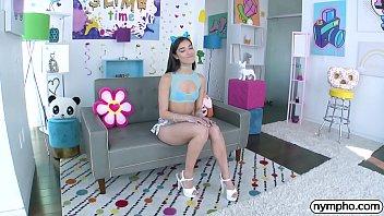 NYMPHO Skinny Latina Emily Willis has her ass plugged