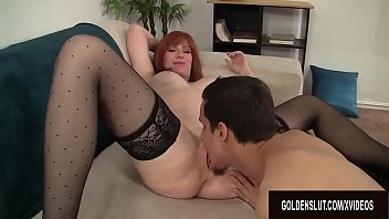 Old mature tart tube - Horny older tart freya fantasia sucks and screws a young dude