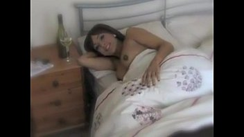 Beautiful brunette horny in bed and ready for a morning fuck