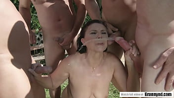 Gilf gangbang Margo t. goes crazy for gangbang