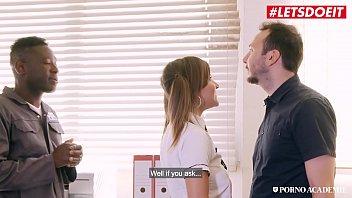 LETSDOEIT - #Mina Sauvage - Slutty French College Girl Gets DP At School With BBC