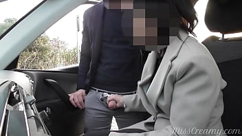 Dogging my wife in public car parking and jerks off an voyeur after work - MissCreamy 8分钟