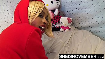 18779 Big Booty Ass Cheeks On Sexy Black Babe Panties Pulled Off Butt In Slow Motion , Msnovember In Doggystyle Position Get Pussy Exposed Then Laying Sideways With Thick Thighs On Tiny Body HD Sheisnovember preview