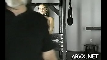 Top notch non-professional slavery scenes with young girl