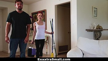 Small fucks Exxxtrasmall - petite maid gets fucked for money