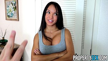 PropertySex - Panty sniffing landlord fucks hot Latina tenant with big cock