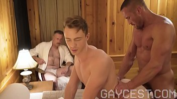 GAYCEST - Dad sees his boy getting fucked by hung muscle daddy