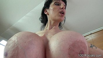 1001Facials - Penelope Black Diamond - cumshot - Blowjob 71 sec
