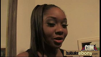 Group ebony blowjob and fucking ending with fac...