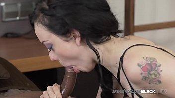 PrivateBlack - Tatted Alessa Savage Gets 2 Big Black Cocks!
