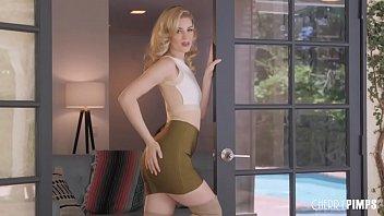 Charlotte Stokely Unzips Her Skirt