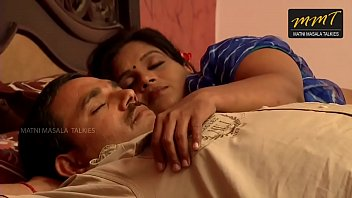 Indian House wife sharing bed with her Husband friend when his husband deeply s.