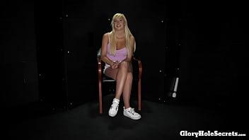 blonde girl sucking strangers off