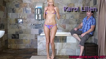 Shaved bikini pics - I convinced this blonde bikini model dick will get her to top of fashion