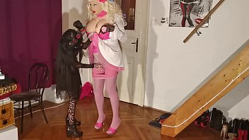 Goth teen abuse & straponfuck her huge real barbi fuck doll pt1 HD