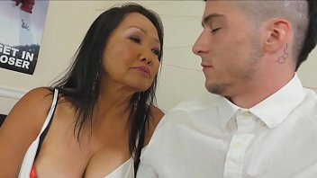 Granny teaches blowjob 70 years old grandma teaches a young guy