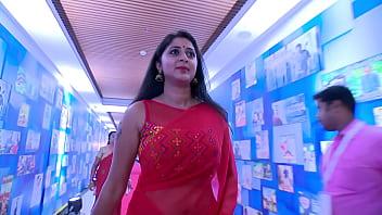Actress Kanika Hot &amp_ Sexy Big Navel Show in Saree