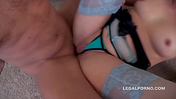 Big butt slut Brittany Love swallows 14 cumshots after XXXtreme anal orgy