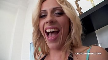 Big butt slut Brittany Love swallows 14 cumshots after XXXtreme anal orgy