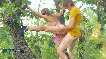 Сouple making love in the forest