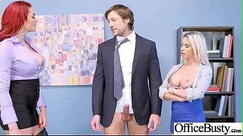 Sexy Big Boobs Girl (Rachel RoXXX & Skyla Novea) Like Hardcore Sex In Office video-26 preview image