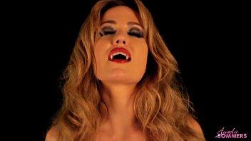 Sexy woman vampire - Horny vampire babe masturbates for slave boy
