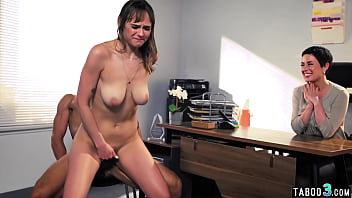 Manipulative MILF boss Olive Glass demands that personal assistant fuck her husband