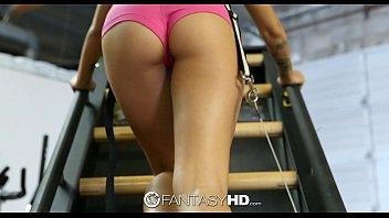 HD FantasyHD - Jessa Rhodes rides guys hard dick for her workout