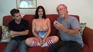 Dad draws the winning card and he must fuck his big boobs daughter