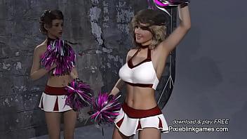 The Professor x-ray camera cheerleader photo shoot