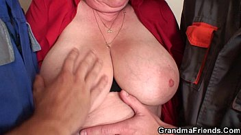 Very old double porn Nasty granny double penetration
