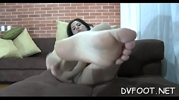 Awesome hottie grinds balls and dick with her hot sexy feet