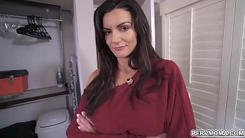 Latina stepmom Becky Bandini is shows her curves in her sexy lingerie then seduces her stepson and spreads her MILF pussy for him ready for his cock.
