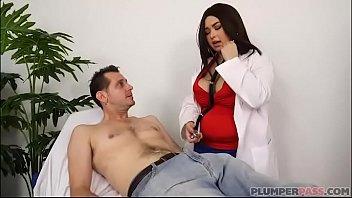Sexy Plumper Nurse Oksana Rose Examines John Strange