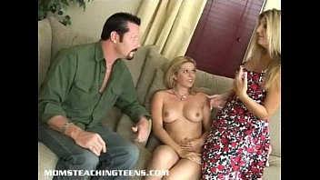 Busty milf catches teen and husband redhanded and joins