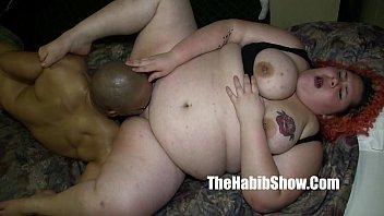 monster dick redzilla bangs her BBW white pussy mixed ho (new)
