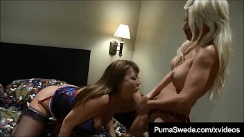 Busty Blonde Puma Swede Delivers Pizza &amp_ A Strap On Cock!