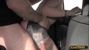 Unusual hottie woman rides an enormous dick inside the taxi