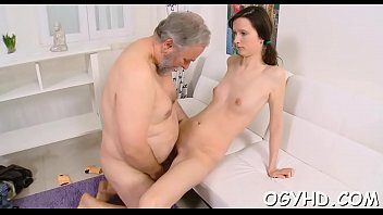 Old and young free porn videos - Juvenile babe licks and rides old cock